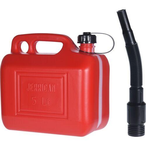 Merkloos Rode brandstof jerrycan 5 liter met schenktuit