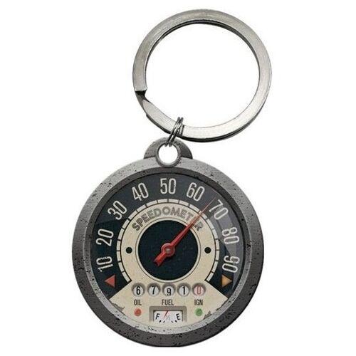Merkloos Sleutelhanger snelheidsmeter rond 4 cm