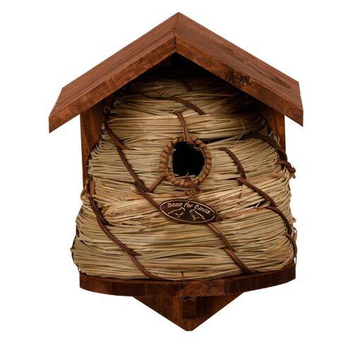 Merkloos Vogelhuisje/nestkastje bijenkorf 25.8 cm