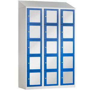 BASIC Locker met 15 doorzichtige deuren