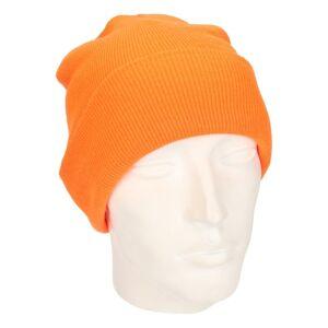 Beechfield Heren winter muts fluorescerent oranje