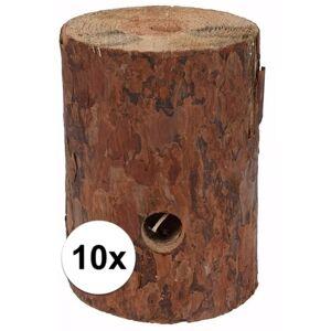 Merkloos 10x Zweedse fakkel kaars 20 cm