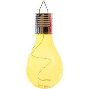 Lumineo 1x Solarlamp lampbolletje/peertje op zonne-energie 14 cm geel