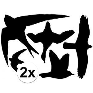 Merkloos 2x Vogel bescherming raamstickers 33x23 cm