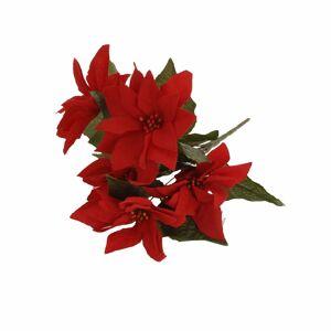 Merkloos Bosje Kerstster bloemen 30 cm