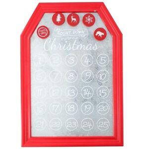 Bellatio Decorations Kerst decoratie planbord / magneetbord rood 31 x 45 cm