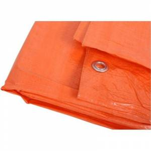 Merkloos Oranje afdekzeil / dekzeil 8 x 10 meter