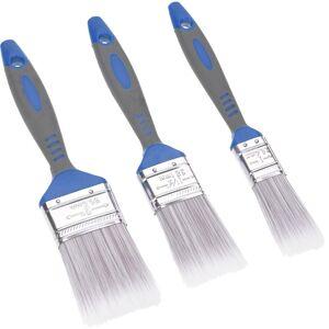 FX Tools Verfkwasten set plat met kunststof handvat B 25 - 50 mm 3-delig