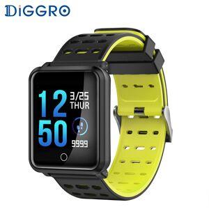 Diggro N88 Smart Horloge Kleur Screen IP68 Waterdicht Hartslag Bloeddrukmeter Vervangbare Armband Voor Android IOS - Oranje