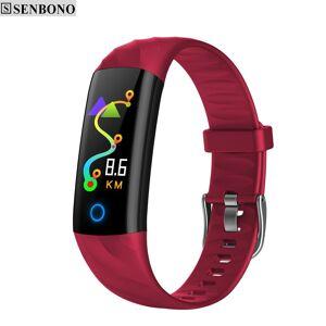 SENBONO S5 Sport horloge IP68 Waterdicht Hartslag Fitness Armband Bloeddrukmeter Activiteit Tracker Slimme Band voor IOS - Blauw