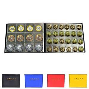 nieuw 180 Coin Houder Plastic Munthouders Storage Collection Geld Album Case PU - Geel