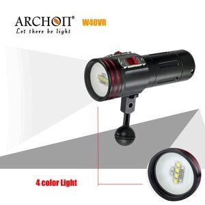 J&S ARCHON W40VR 100M Video Photograpy Diving 4 kleuren LED zaklamp