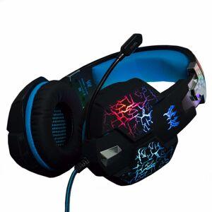 MyXL KOTION ELKE Gaming Headset Hoofdtelefoon Trillingen Functie Diepe Bas oortelefoon Surround Sound Led Light Mic Voor PS4 PC pro Gamer