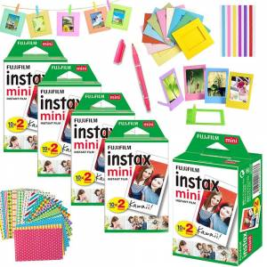 Fujifilm Instax Mini 8 Wit Film Foto Lakens (20/30/40/60/80/100 stks) voor Mini 9 50 70 Instant Camera + 10-IN-1 Accessoires Kit - Sets van 40 en 10 s