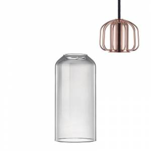 Xenos Nordlux hanglamp - helder/koper- 12x25.2 cm