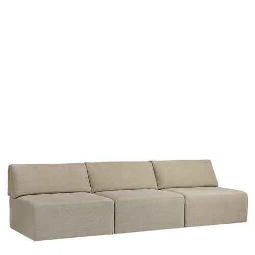 Gubi Wonder Sofa 3-zits Bank Zonder Arm - Bel Lino G077/13