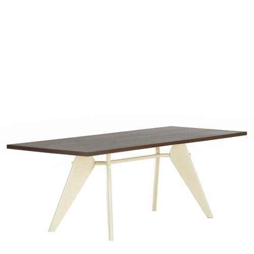 Vitra EM Tafel - Gerookt Eiken Blad / Ecru onderstel - 240 x 90 cm