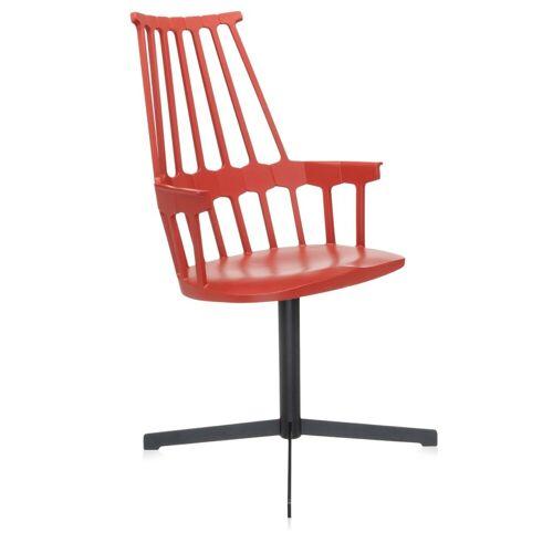 Kartell Comback Chair Draaibaar Rood
