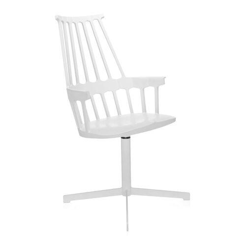 Kartell Comback Chair Draaibaar Wit