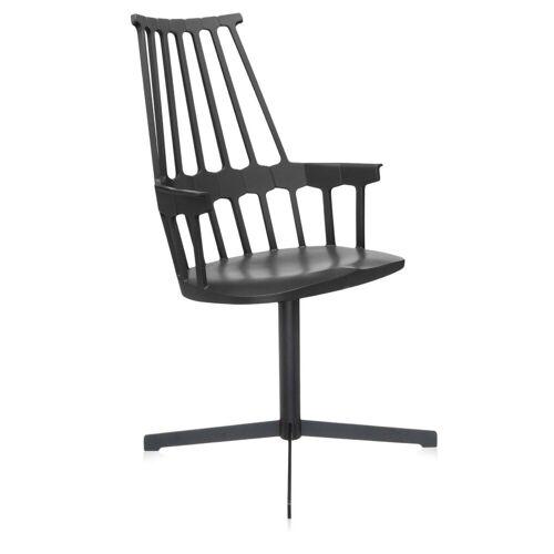 Kartell Comback Chair Draaibaar Zwart