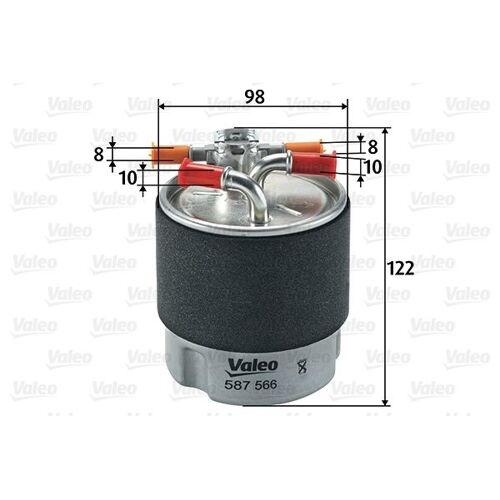 Valeo Dieselfilter Nissan Qashqai/xtr 587566