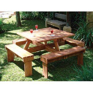 Van Kooten Tuin en Buitenleven Hardhouten picknicktafel vierkant