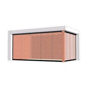 Van Kooten Tuin en Buitenleven Buitenverblijf Verona 520x335 cm - Plat dak model links - Combinatie 1
