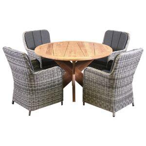 Van Kooten Tuin en Buitenleven Tuinset Calma - 4 stoelen met teakhouten tafel