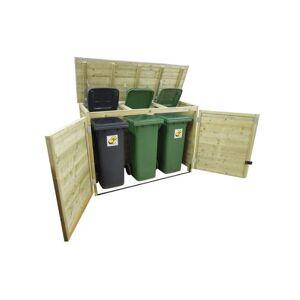 Van Kooten Tuin en Buitenleven LK240TRIO-R Containerberging   B208xD90xH125 - voor 3 containers!