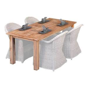 Van Kooten Tuin en Buitenleven Teak dinner tafel Modern 250   Tafel L250xB100xH80 cm