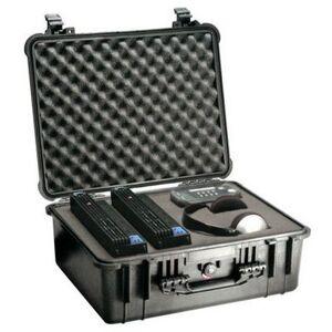 Peli Case 1550 Black 46,8x35,6x19,4cm (plukschuim interieur)