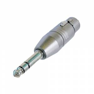 Neutrik NA3FP XLR female naar Jack stereo adapter