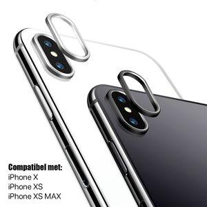 ABRAND iPhone X / XS / XS MAX Glazen Camera Cover - Zwart