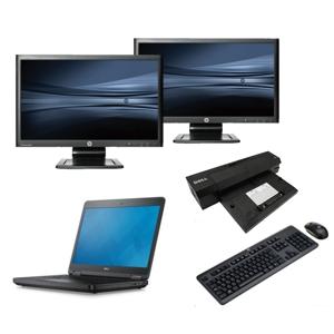 Dell Latitude E5440 - Intel Core i5 - 4GB - 320GB HDD + Docking + Dual 2x 22'' Widescreen Monitor