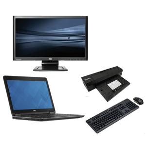 Dell Latitude E7440 - Intel Core i5 - 8GB - 120GB SSD + Docking + 22'' Widescreen Monitor