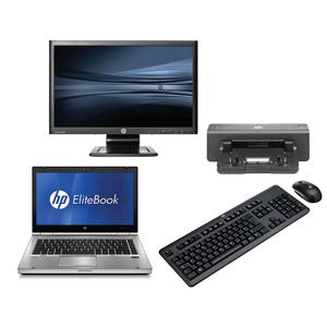 HP Elitebook 8460P - Intel Core i5 - 4GB - 320GB HDD + Docking + 22'' Widescreen Monitor