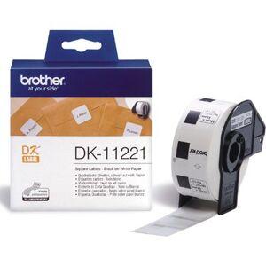 Brother DK-11221 Etiket Zwart op wit (23 mm x 23 mm)