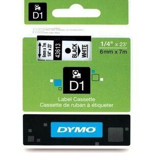 Dymo 43613 (S0720780) Tape Zwart op wit (6 mm)