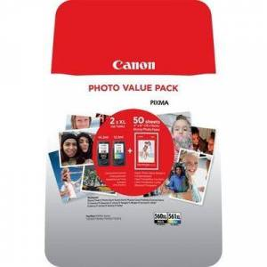 Canon PG-560XL / CL-561XL Photo Value Pack (PG-560 / CL-561) Inktcartridge Zwart + 3 kleuren Voordeelbundel Hoge capaciteit