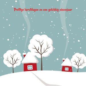 Huisje in de sneeuw