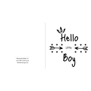 Kaartje met indianen tekens voor een jongen