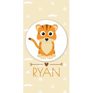 Lief tijgertje in beige en bruin tinten