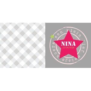 Stoer met roze ster op grijze achtergrond
