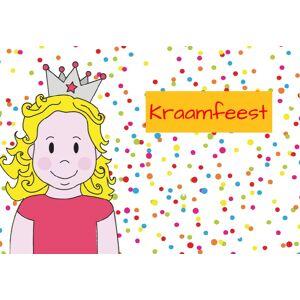 Inlegkaartje kraamfeest 'prinsenkind' collectie