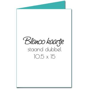 Blanco trouwkaart - Langwerpig, dubbel