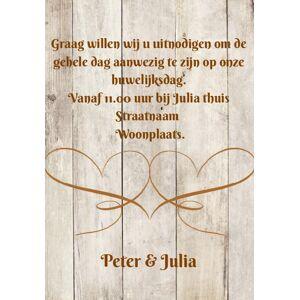 Inlegkaartje op steigerhout