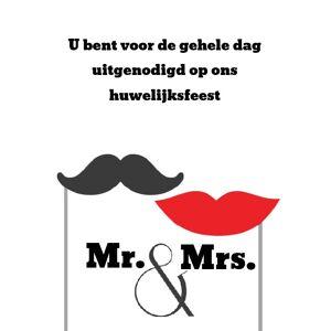 Inlegkaartje Mr. & Mrs.
