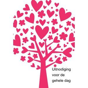 Inlegkaartje roze hartjesboom