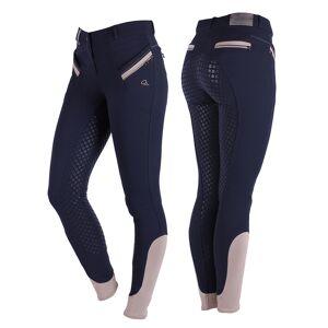 QHP Rijbroek Bliss anti-slip zitvlak donkerblauw maat:36