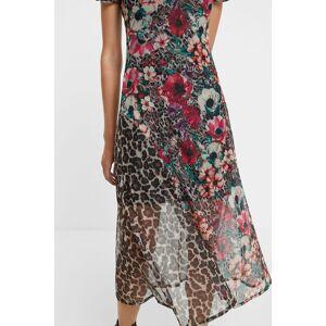 Desigual Midi-jurk met bloemen- en dierenprint - BROWN - M